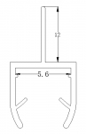 Plastic/PVC Seal for Glass Shower Doors