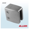 Radius D Shape Flat Base Stainless Steel Security Plate Glass Clamp