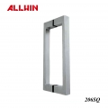 Stainless steel Square Rectangular Flat Glass Door Handle