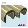 Stainless Steel Single Slot Round Tube Round Roll Formed Cap Rail