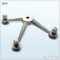 Polished Stainless Regular Duty 3 Way Arm Column Mount Spider