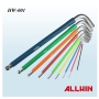 9 pcs color anti slip allen key set hex key