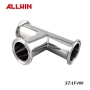Stainless Steel Sanitary Fittings Pipe Clamp 3 way Tee Connector