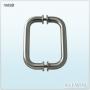 Solid Aluminum Handle Glass Door Handle Push Pull Handle
