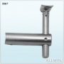 Glass Mounted Fixed Saddle Adjustable Handrail Bracket