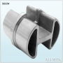 Stainless Steel 2 way slot tube inline connector