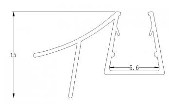 PVC Shower Screen Waterproof Door Wipes and Water Seal