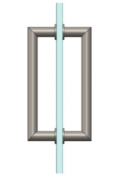 Stainless steel Square Glass Door Handle