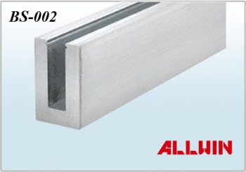 Tempered Glass Stainless steel Cap Rails U Profile U Channel