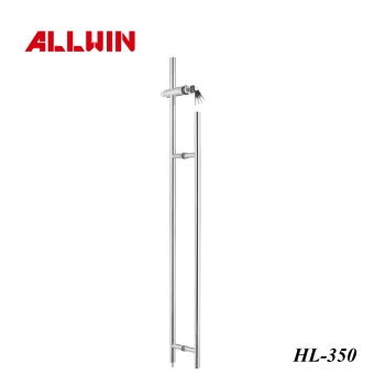 Brushed Stainless Steel Push Pull Door Handle Locking Ladder Pulls