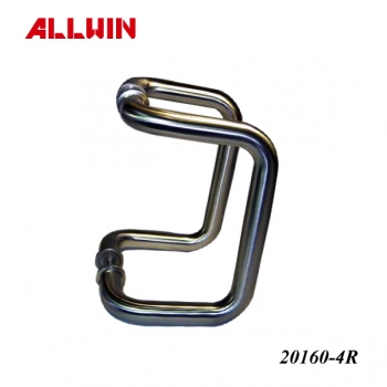Glass Mounted Offset Back To Back Push Pull Handle