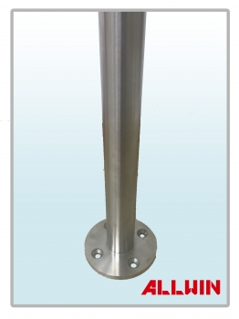 Stainless Steel Cable wire or Glass Panel Heavy Duty Railing Round Handrail Fence Post