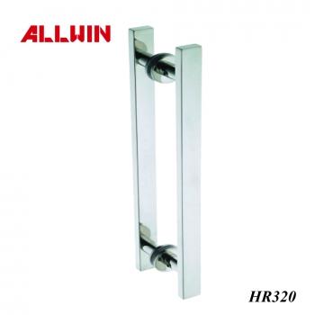 Stainless Steel Push Pull Door Handle L Shape Panic Handle