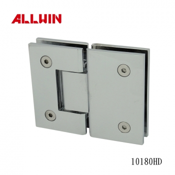 Brass H Type Back Plate Beveled Corner & Edge Shower Hinge