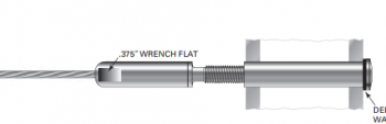 Easy installation Stainless Steel Quick Connect Wire Rope Fittings