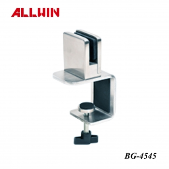 Stainless steel Free Standing Desk Protection Movable Barrier Glass Clamp