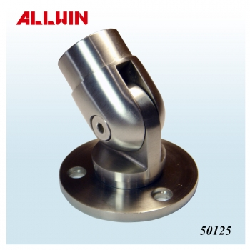 Stainless Steel Handrail Round Tube Round Post Wall Floor Flange