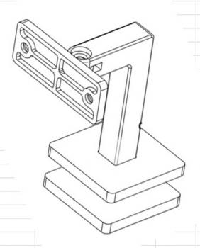 New Shape Radius Saddle Glass Mounted Handrail Bracket