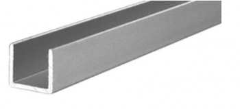 Anodized Aluminum Single Channel Extrusion U Channel