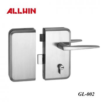 Double Side with Key Glass Door Lever Handle Lock