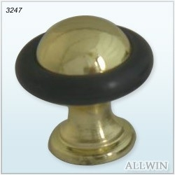 Brass Floor Mounted Mini Door Stopper