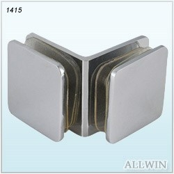 Solid Brass 90 Degree Corner Glass To Wall Mount Glass Clip