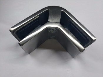 Stainless Steel 2 ways 90 Degree Corner Mall Front Glass Clamp