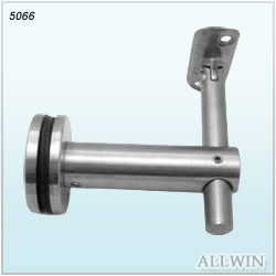 Easily Installation Wall Glass Mounted Aluminum adjustable handrail bracket