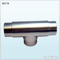 Stainless Steel 2 Way 180 Degree Inline Square Tube