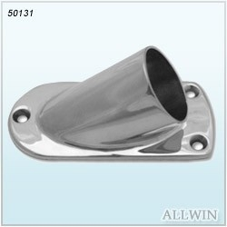 Stainless Steel Oblong Bevel Angle Square Tube Base Plate Flange