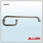 Solid Brass Round Pull Handle Combination Towel Bar