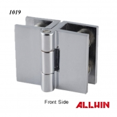 Solid Brass Glass Door Glass-to-Glass Out-Swing Set-Screw Hinge