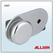 Solid Brass 90 Degree Round Shape Inline Glass Door Wall Mounted Glass Clamp