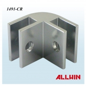 Aluminum 90 Degree Glass Clip Glass-to-Glass Clamp