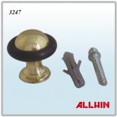Brass Floor Mounted Mini Door Stopper