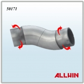 Stainless Steel Adjustable Round Tube Elbow Connector