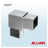 Stainless Steel Flush 90 degree Tube Connection Fitting Square Tube Connector