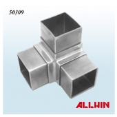 Stainless Steel Three Way Square Tube Connector