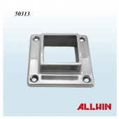 Stainless Steel 4 Hole Square Tube Flange