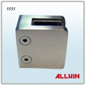 Stainless Steel Square Post Railing Flat Base Glass Clamp