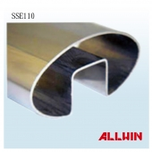 Stainless Steel Rail Cap Display Elliptical Round Single Slot Pipe Tube