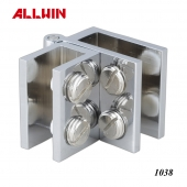 Solid Brass Glass Door Right Angle Hinge