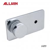Solid Brass Round Button Bathroom Holder Glass Clip