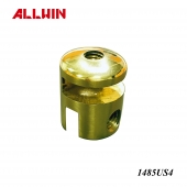 Polished Brass Glass to Glass Shower Shelf Clamp Connector