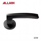 Modern Solid Brass Matte Black Lever Door Handle