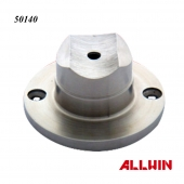 Stainless Steel Rail Support Coped Perpendicular Collar Full Flange