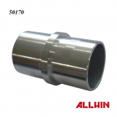 Stainless Steel inline 2 way Round Tube Connector