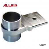 Stainless Steel Handrail Bracket Flat Bar to Round Tube Connector