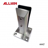 Frameless 2205 Stainless Steel Hollow Design Glass Spigot Square body with Square Plate Square Spigot