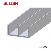 Glass Glazing Taiwan Aluminum Extrusion Double Channel Sliding Track Bar
